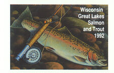 Extremely Rare Wisconsin Salmon & Trout Stamp Block 1992 Error