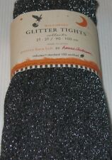Pottery Barn Kids Holiday Glitter Tights 2-3T Black Silver Hanna Andersson $22
