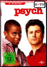 """DVD - neu & ovp - """" PSYCH - 3. Staffel """" - ( 4 DVDs )"""