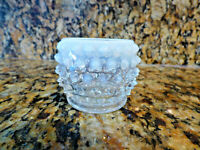 Fenton Hobnail Opalescent Ring Trinket Dish 2 '' Tall 2 ''Across the top. Rare!
