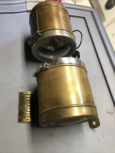 1920S Automobile Packard Buick Others Fend A Lite Brass Pair