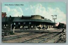 Union Railroad Depot GULFPORT Mississippi Antique Train Station Locomotive~1910s