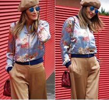 Zara Casual Floral Plus Size Coats & Jackets for Women