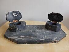 Schreibtischgarnitur Schreibset Schreibablage Marmor 20er Jahre massiv