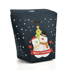 6/10PCS Christmas Printed Paper Gift Bags Xmas Candy Carrier Present Favor Boxes