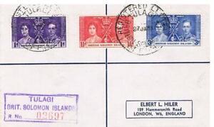 1937 - British Solomon Islands Coronation set on - Cover
