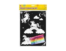 Kids Colourful Velvet Felt Art Picture Colouring Set For Children ~ Unicorn