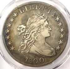 1800 Draped Bust Silver Dollar $1 - Certified PCGS XF Details (EF) - Rare Coin!