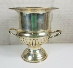 Vintage Silver Plate Champagne Cooler Wine Chiller IceBucket Large Trophy Vase