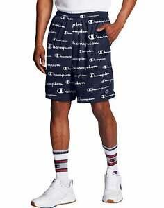 Champion Men's Mesh Shorts Athletics All Over Logo Scripts Pockets Breathable