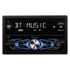 Dual Double DIN CD/AM/FM/MP3 Receiver w Built-In Bluetooth