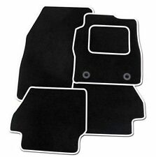 FIAT PANDA 2015 2016 2017 2018 - Tailored Car Floor Mats BLACK MAT WHITE EDGING