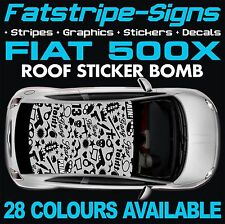 FIAT 500X GRAPHICS STICKER BOMB ROOF DECALS STICKERS STRIPES  ABARTH 1.4 1.6 GUN