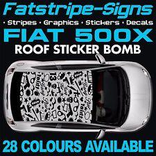 FIAT 500X GRAPHICS STICKER BOMB ROOF DECALS STICKERS STRIPES  ABARTH 1.4 1.6 GUN