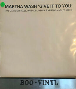 """MARTHA WASH -GIVE IT TO YOU -12"""" DOUBLE VINYL GARAGE HOUSE RECORD EX+"""