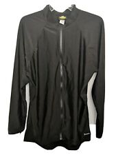 Aeroskin Nylon Long-Sleeve Rashguard With Color Accents And Front Zip, Black, 4X