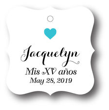 24 Mis XV años Personalized Party Favor Tag