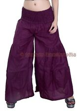 New Women Purple Cotton Palazzo Harem Pants Dance Trousers Afghani Yoga Hippie