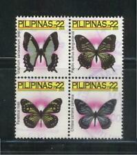 PHILIPPINES 2005 BUTTERFLIES 22P COMP. SET BLOCK OF 4 STAMPS 2954a-d FINE USED