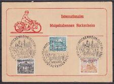 Berlin Mi Nr. 42, 43, 44 tolle Karte Hockenheim Maipokal Rennen 1951 mit SST