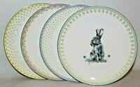 SPODE Meadow Lane Easter Bunny Rabbit Set of 4 Porcelain Salad Side Plates New