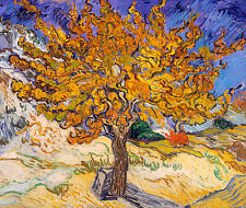 Vincent van Gogh 1890, Mulberry Tree, Fade Proof HD Art Print or Canvas Print