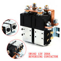 HOT SALE!! 12v 24v CURTIS SW182 STYLE 200A DC REVERSING CONTACTOR SOLENOID USA