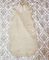 Ann Taylor Womens Turtleneck Sleeveless Khaki Wool Cashmere Blend Knit Top Sz XS