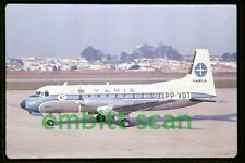 Original Slide, Varig Hawker Siddeley HS.748 Series 2A (PP-VDT) Sao Paulo, 1974