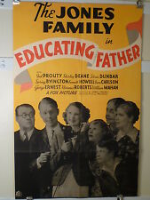 1936 EDUCATING FATHER 1SHT- 2ND JONES FAMILY COMEDY