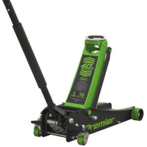 Sealey Premier Tools 3040AG 3 Tonne Rocket Lift Trolley Jack Green