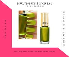 L'Oreal Paris Colour Riche 807 Majestic Green Haloween Nail Varnish Polish Nails