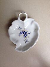"""""""Perugina"""" By Aurora Firenze Italia Handpainted Ceramic Leaf Dish"""