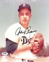 JOHNNY PODRES SIGNED AUTOGRAPHED 8x10 PHOTO BROOKLYN DODGERS PSA/DNA