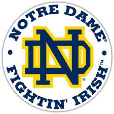"Notre Dame Fighting Irish NCAA Vinyl Car Bumper Window Sticker Decal 4.6""X4.6"""