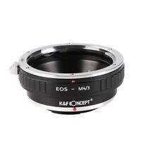 K&F Concept Canon EOS EF EF-S Lens to M 4/3 Olympus Panasonic EOS-M4/3 Adapter