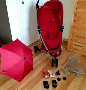 QUINNY zapp Buggy ROT Kinderwagen mit umfangreichen ZUBEHÖR!!! TOP!