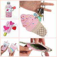 Mini Bag Handbags Ice Cream Bottle Coin Purse With Keyring PU Leather Wallet