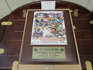 St. Louis Rams Super Bowl XXXIV Champions limited numbered edition PLAQUE-PHOTO