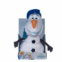 "DISNEY FROZEN - OLAF SOFT TOY WITH HAT - NEW & BOXED - GIFT QUALITY 10"" - 26CM"