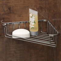 Supahome Chrome Plated Shower Bath Corner Soap Caddy Dish Tray Holder Bathroom