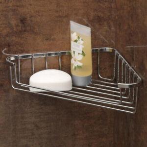 Supahome Chrome Plated Shower Bath Corner Soap Caddy Dish Tray Holder Bathroom