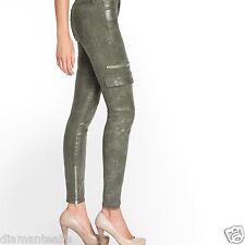 GUESS Women's Mid-Rise Cargo Skinny Jeans in Camo Glitter Wash sz 26
