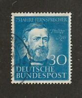 Germany stamp #614, used, Philipp Reis, A144, 1952, SCV $14