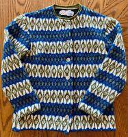 Vintage Iceland Lambs Wool Woman's Sweater Size 10 Sweden Jersey Modello