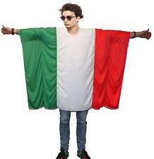 Bandera italiana Poncho Onesize Italia Fancy Dress partidario Costumes