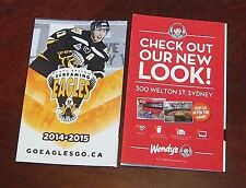 Cape Brenton Screaming Eagles Hockey pocket schedule 2014-2015 C. Bishop