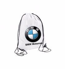 SACCA ZAINO BORSA SPORTIVA BIANCA BMW