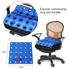 Air Inflatable Home Cushion Seat Pad +Pump For Car Office Wheelchair JS