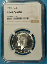 1964 Kennedy Half Dollar NGC PF67 CAMEO- Well Frosted, Nicely Mirrored